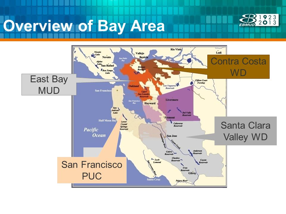 Overview of Bay Area Santa Clara Valley WD Contra Costa WD East Bay MUD San Francisco PUC