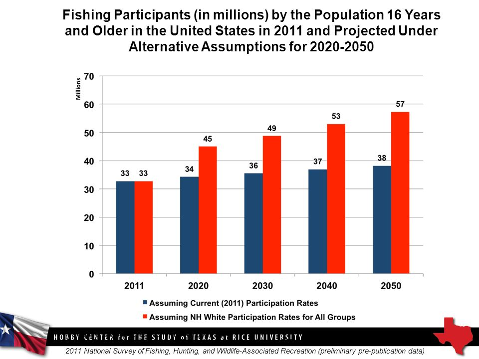 Fishing Participants (in millions) by the Population 16 Years and Older in the United States in 2011 and Projected Under Alternative Assumptions for Source: Derived from U.S.