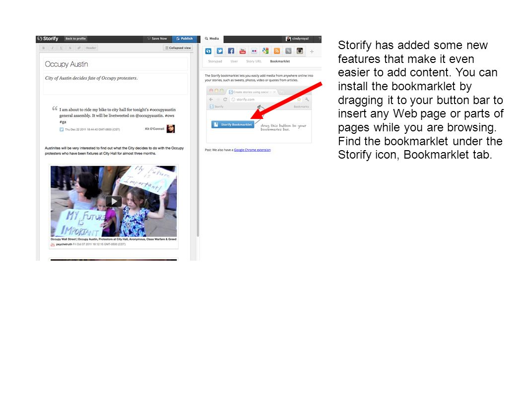 Storify has added some new features that make it even easier to add content.