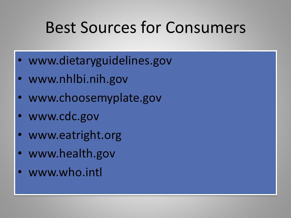 Best Sources for Consumers