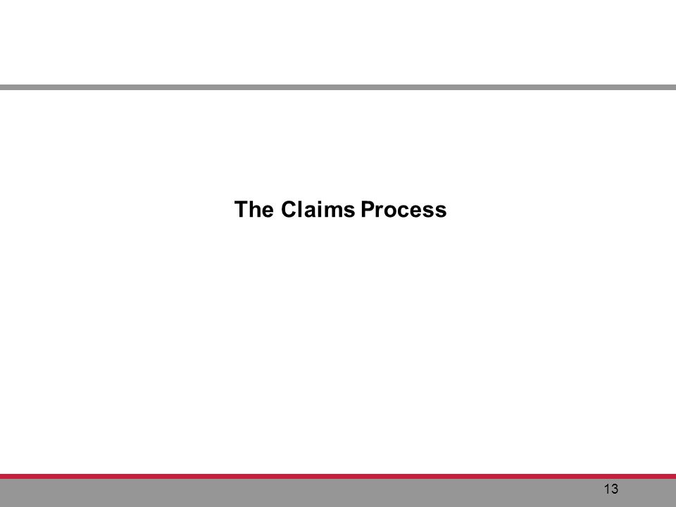 13 The Claims Process