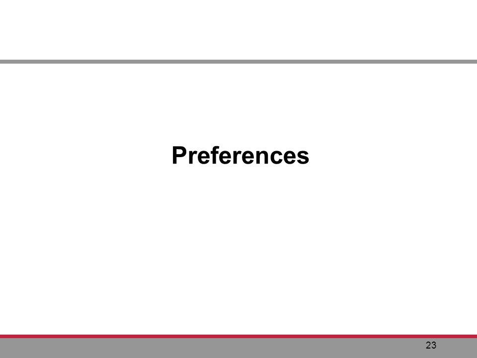 23 Preferences