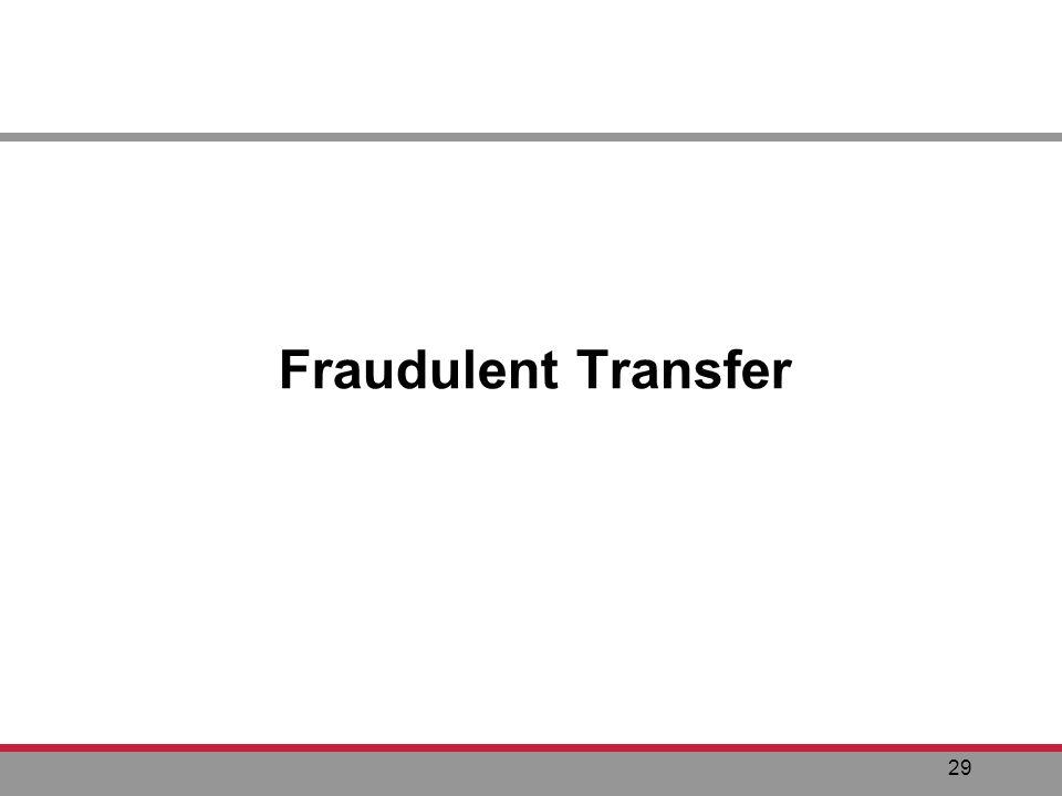 29 Fraudulent Transfer