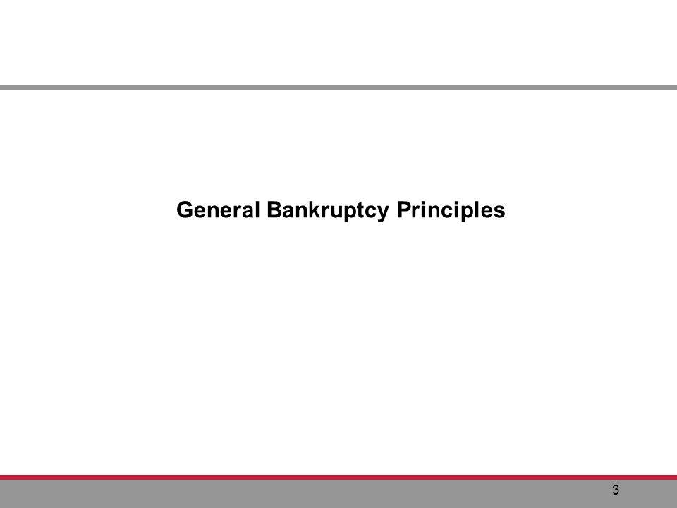 3 General Bankruptcy Principles