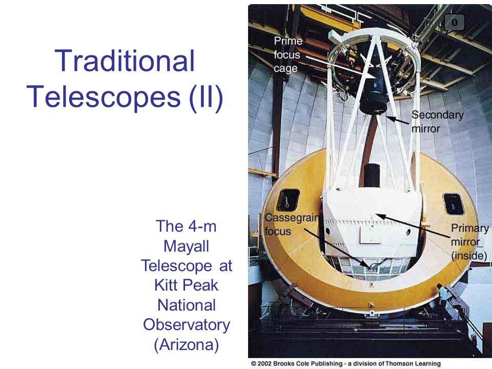 Traditional Telescopes (II) The 4-m Mayall Telescope at Kitt Peak National Observatory (Arizona) 0
