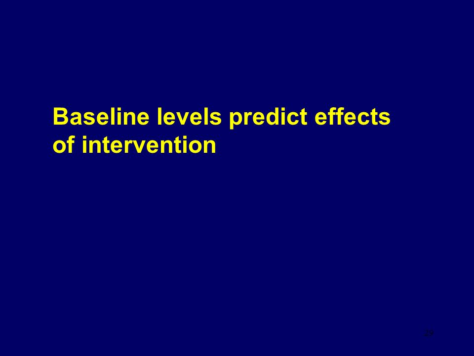 29 Baseline levels predict effects of intervention