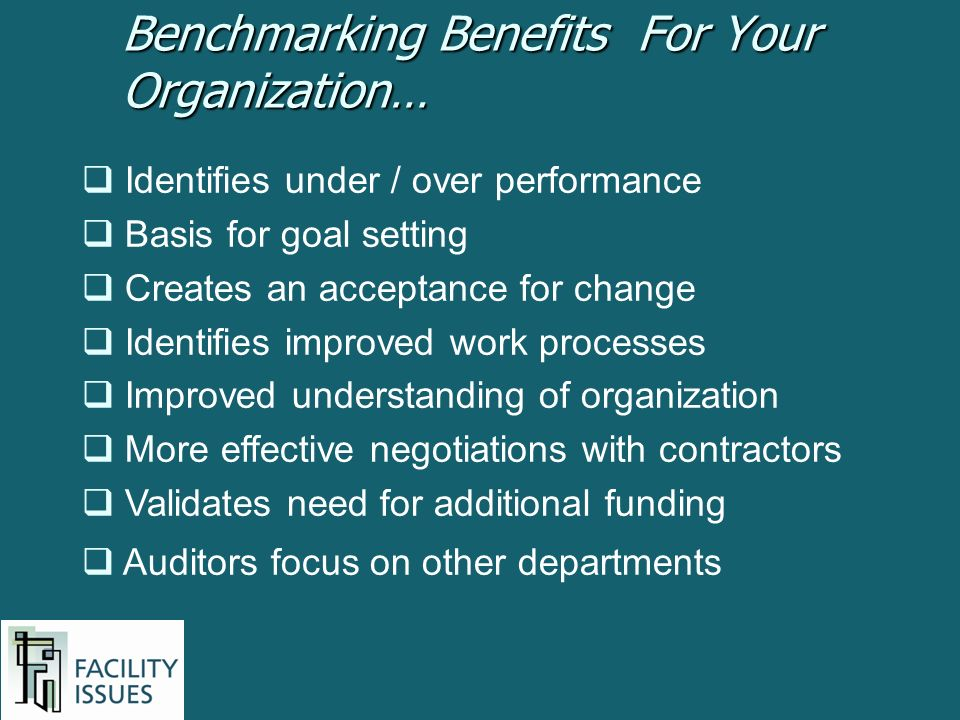 Identifies under / over performance Basis for goal setting Creates an acceptance for change Identifies improved work processes Improved understanding