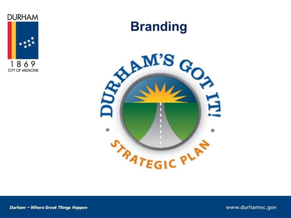 Durham – Where Great Things Happen Branding