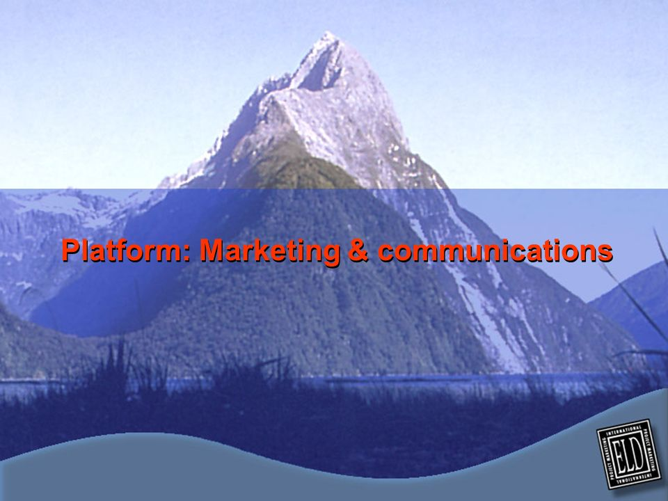 Platform: Marketing & communications