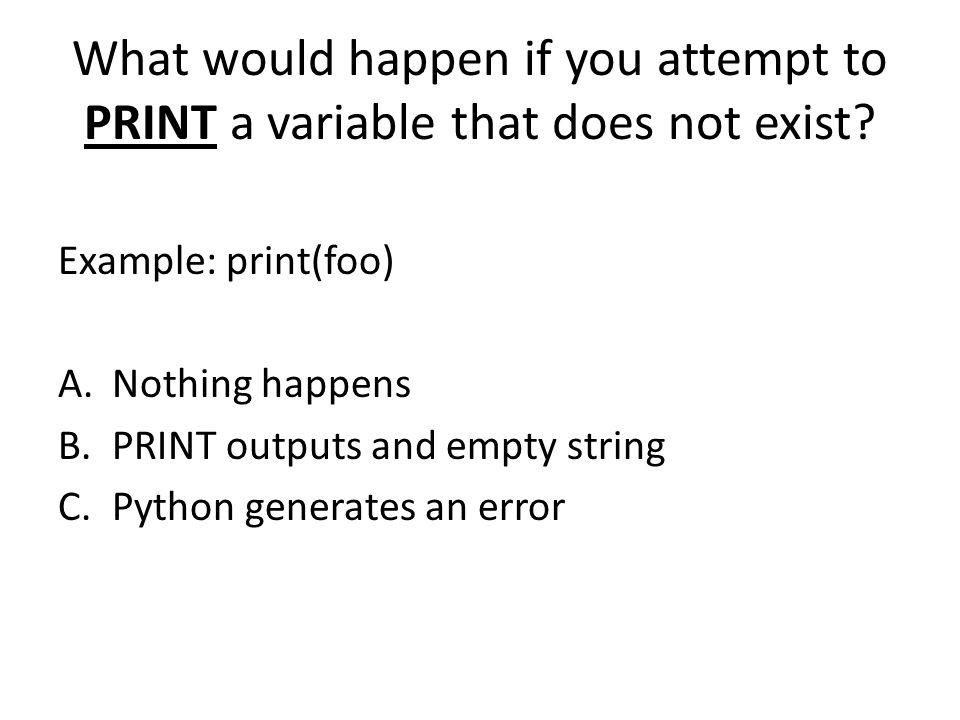 What is the output? print(2 + 3) A.2 + 3 B.2 + 3 = 5 C.5 D.Python throws an error