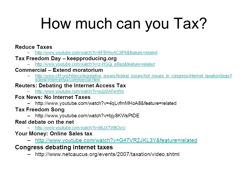 Internet Tax Freedom Act Internet Tax Freedom Act was introduced on October 21, 1998 Has been extended by another seven years, and will expire in 2014 if not renewed.