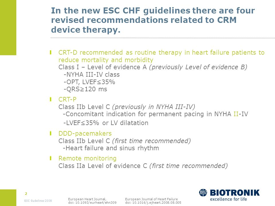 1 ESC Gudelines 2008 Agenda Introduction Classes of recommendations Level of evidence Treatment algorithm Changes to ESC guidelines in 2008 Recommenda