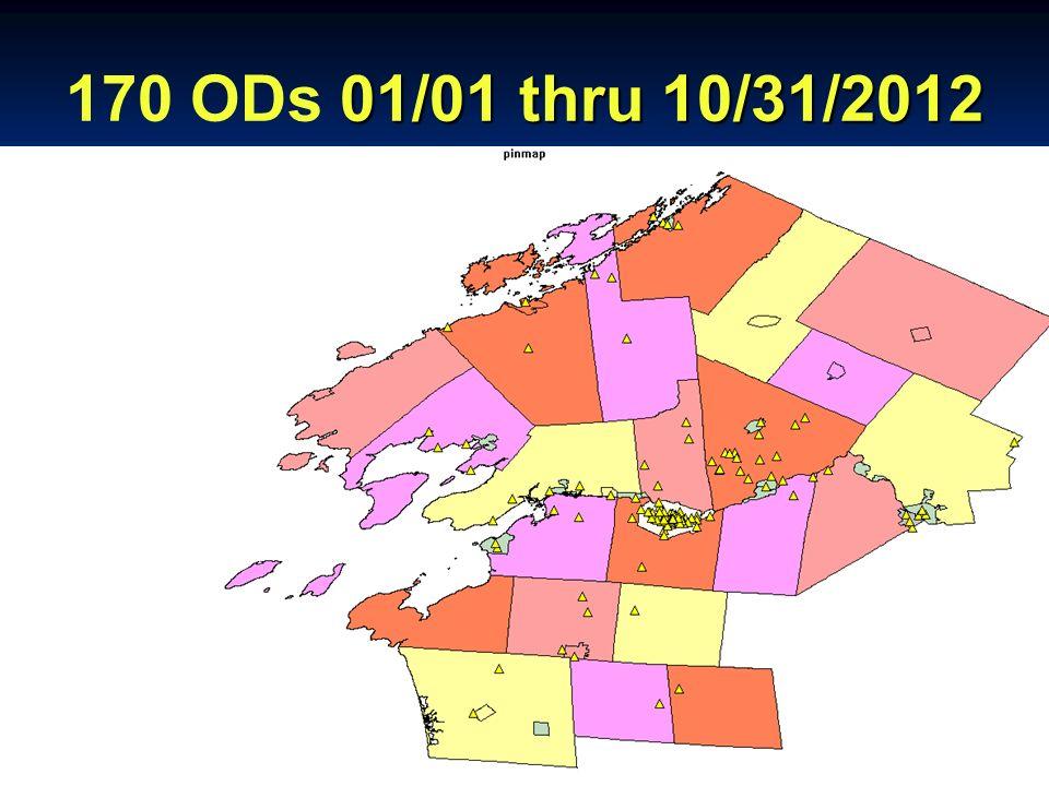 01/01 thru 10/31/2012 170 ODs 01/01 thru 10/31/2012