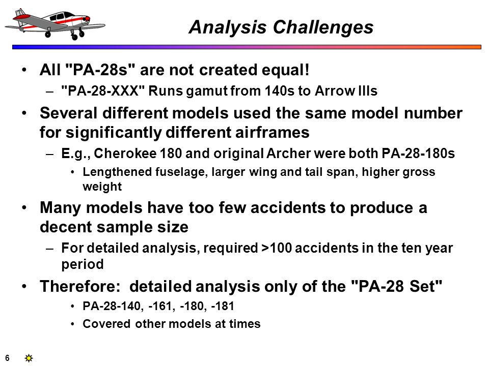 6 Analysis Challenges All