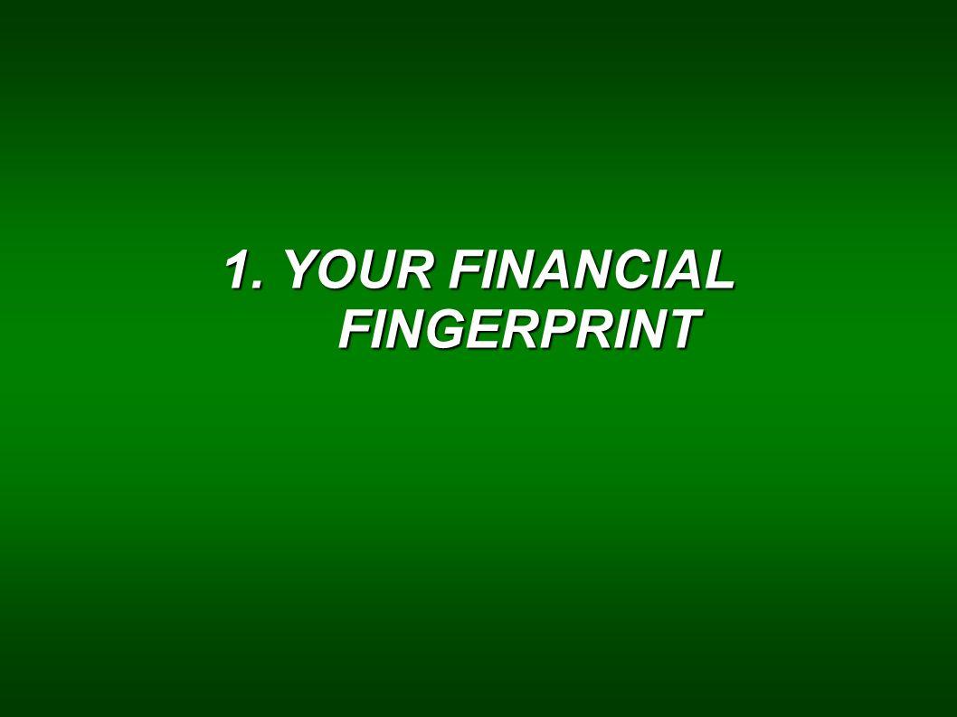 1. YOUR FINANCIAL FINGERPRINT