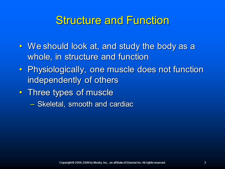 Structure and Function We should look at, and study the body as a whole, in structure and functionWe should look at, and study the body as a whole, in