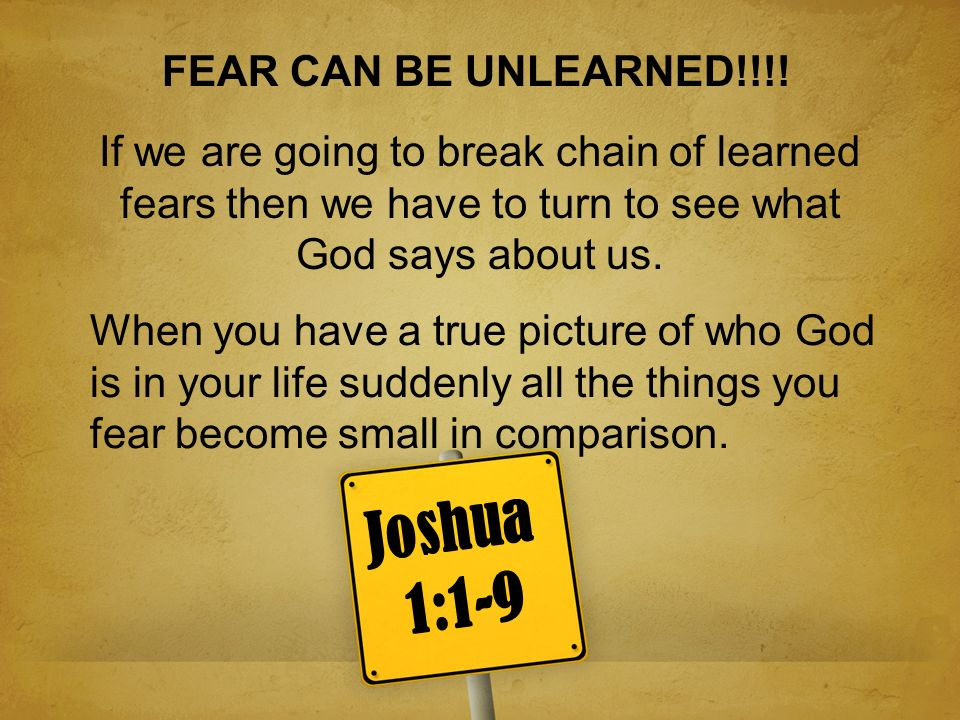 1.God has called me and has a plan for my life and I will live it 1.I dont have to be afraid of being myself