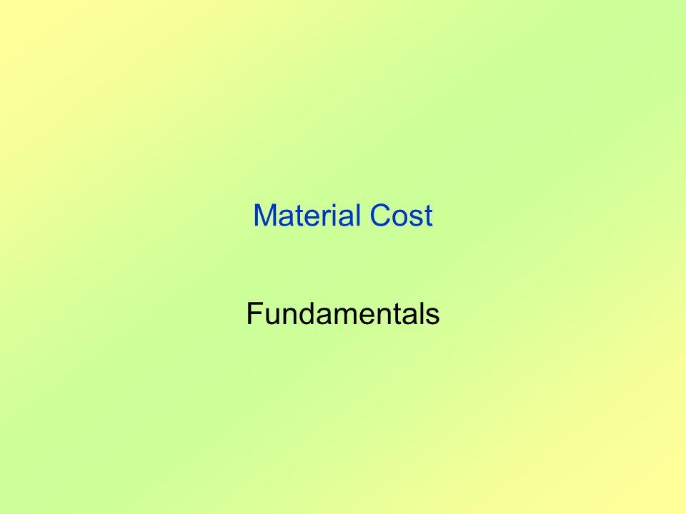 Material Cost Fundamentals