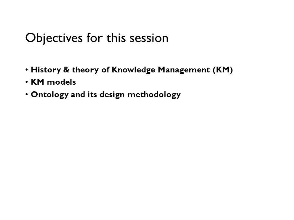 An Introduction to Knowledge Management 2010-2011