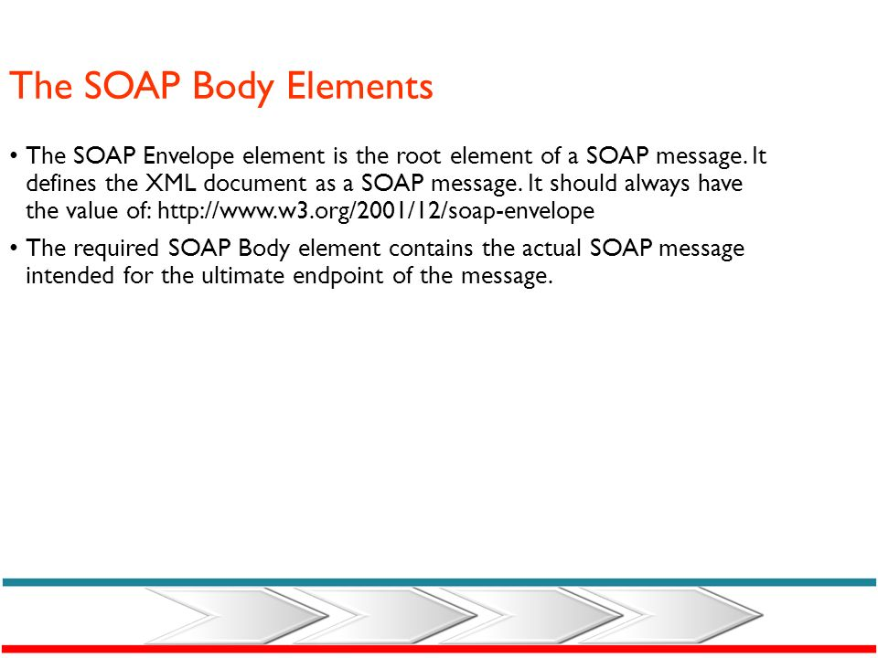 The Actor Attribute A SOAP message may travel from a sender to a receiver by passing different points along the message path. Not all parts of the SOA