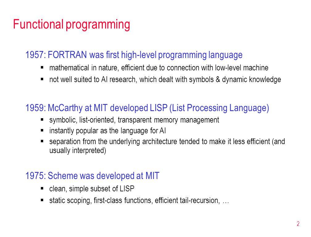 3 Obtaining a Scheme interpreter many free Scheme interpreters/environments exist Dr.