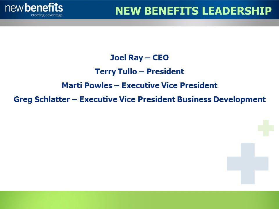 Joel Ray – CEO Terry Tullo – President Marti Powles – Executive Vice President Greg Schlatter – Executive Vice President Business Development NEW BENE