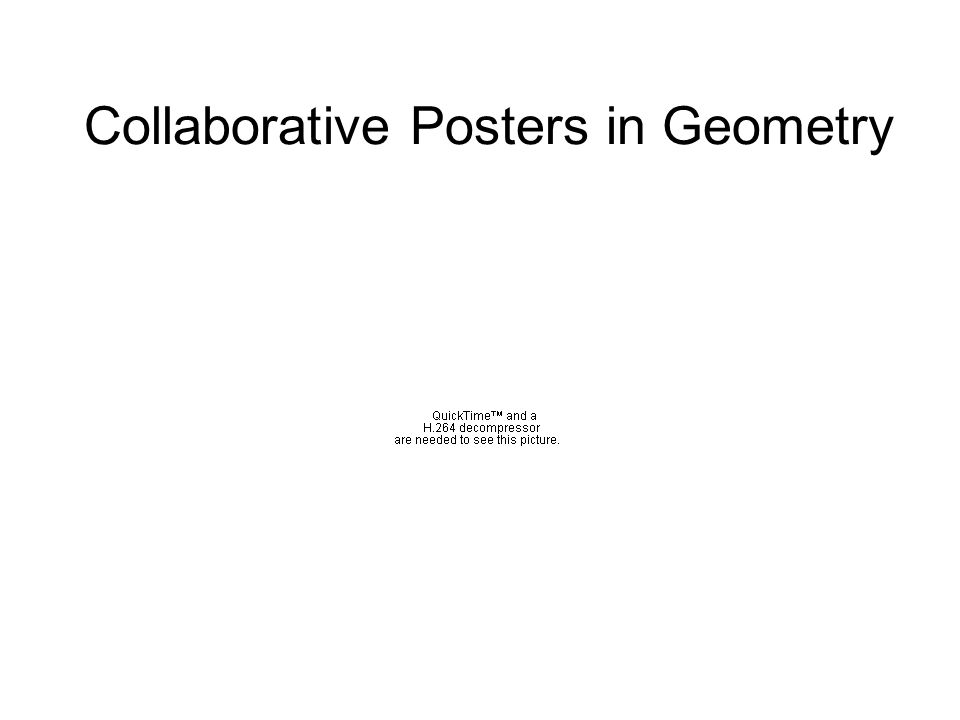 Collaborative Posters in Geometry