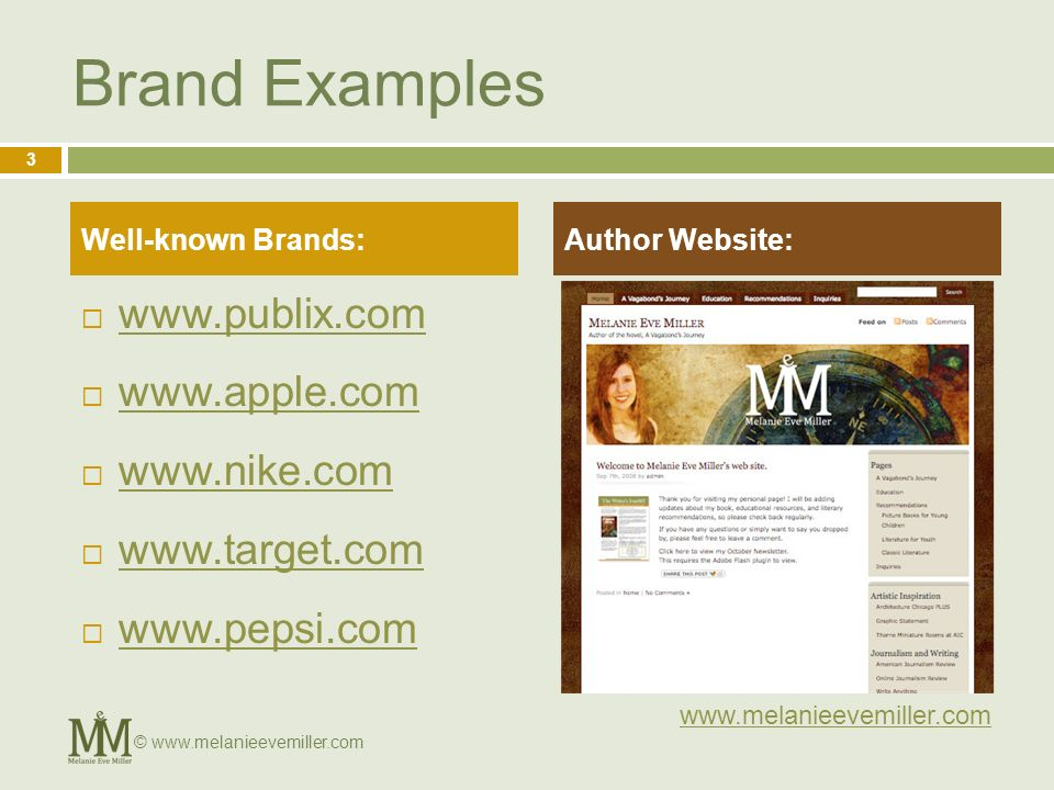 Brand Examples Well-known Brands:Author Website:   3 ©