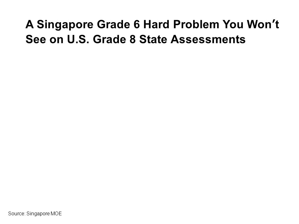 A Singapore Grade 6 Hard Problem You Wont See on U.S.