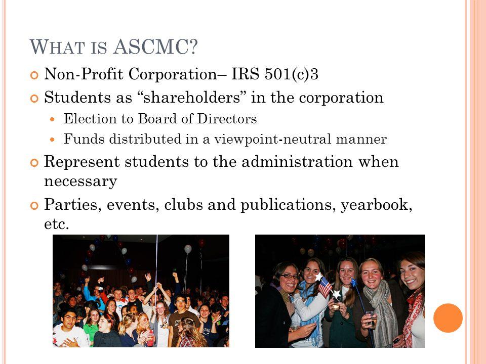 W HAT IS ASCMC.