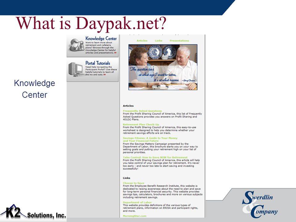 What is Daypak.net? Knowledge Center