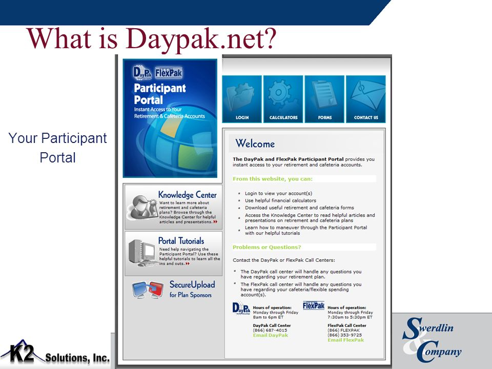 What is Daypak.net? Your Participant Portal