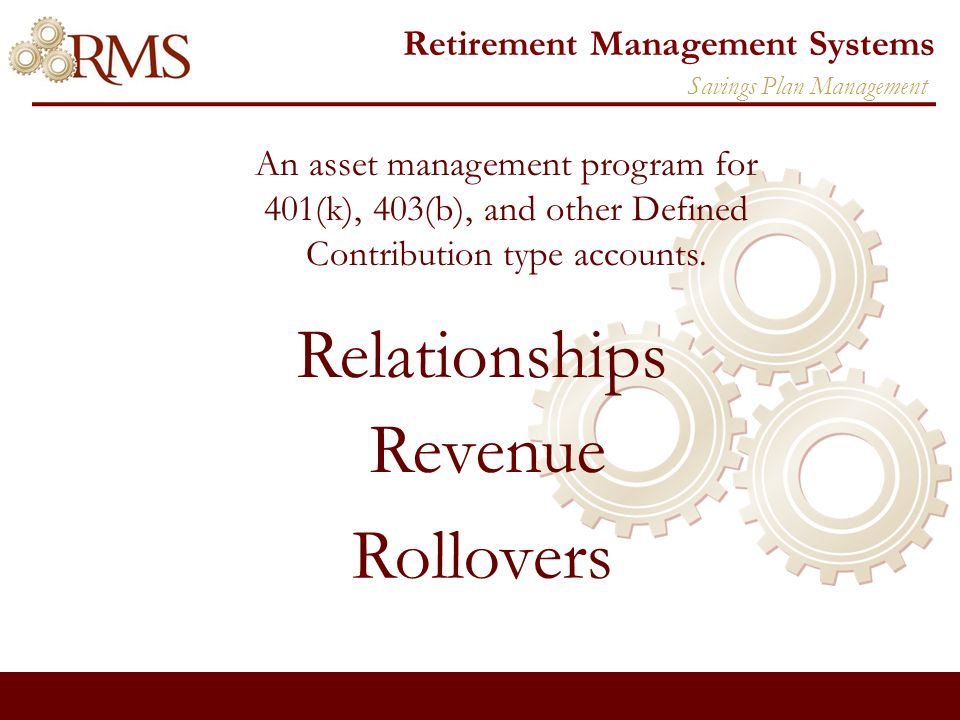 Retirement Management Systems In-Service Withdrawal Opportunities