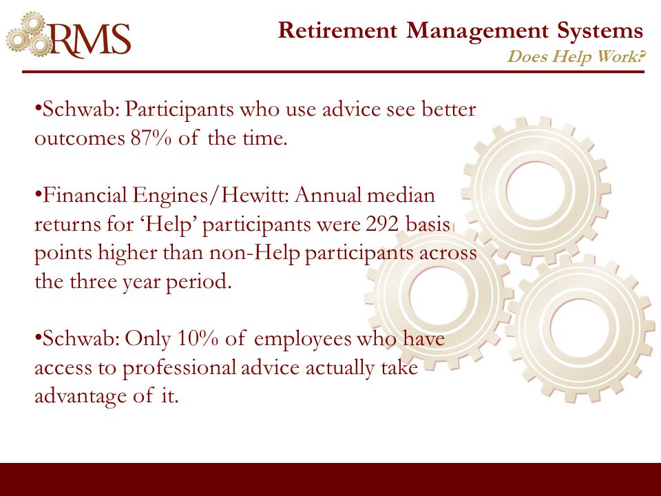 Retirement Management Systems Questions?