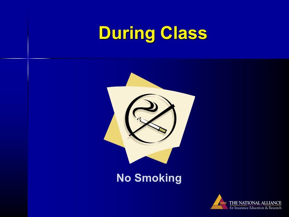 During Class No Smoking
