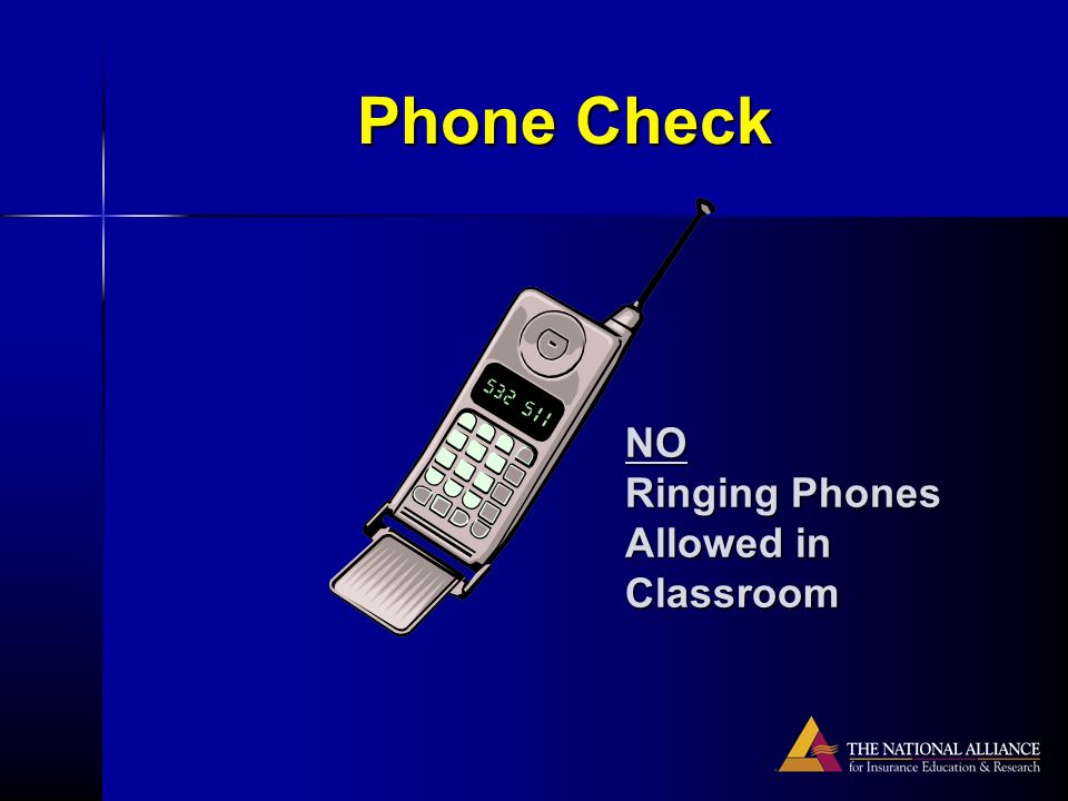 Phone Check NO Ringing Phones Allowed in Classroom