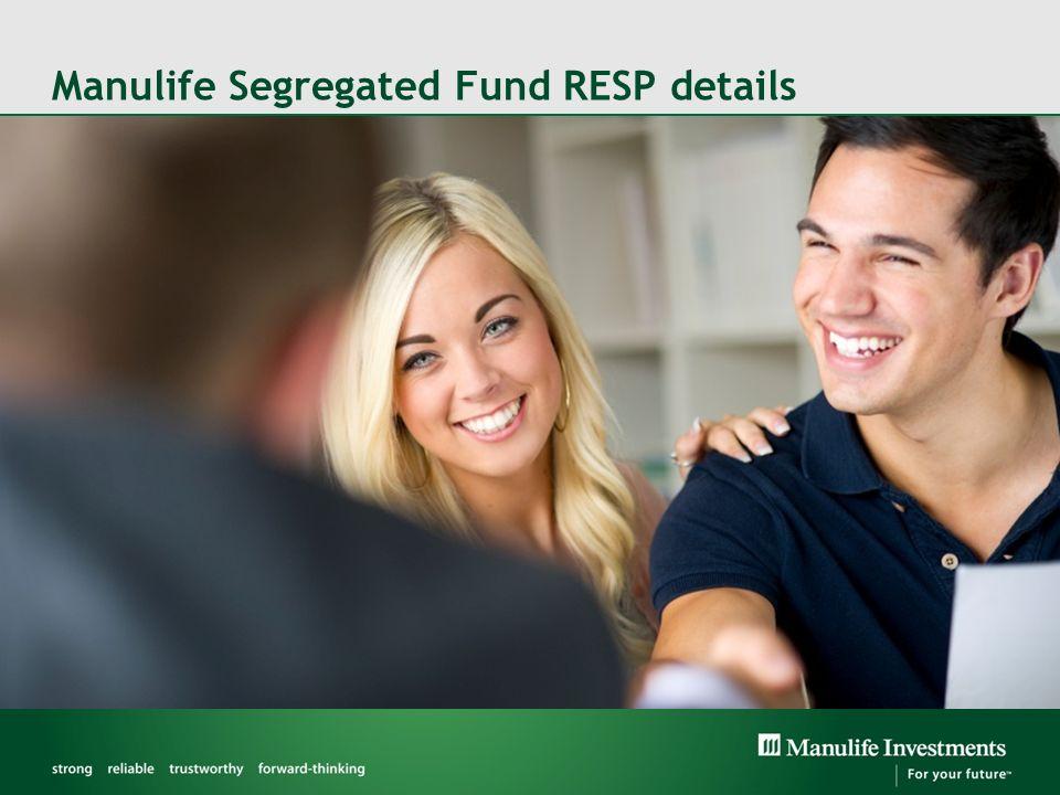 Manulife Segregated Fund RESP details