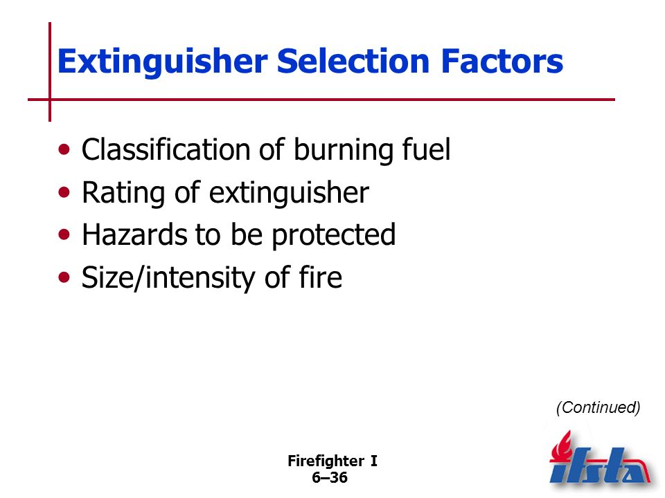 Firefighter I 6–35 Identification Two Ways Geometric shapes of specific colors with class letter shown within shape NFPA ® 10 recommended Uses pictogr