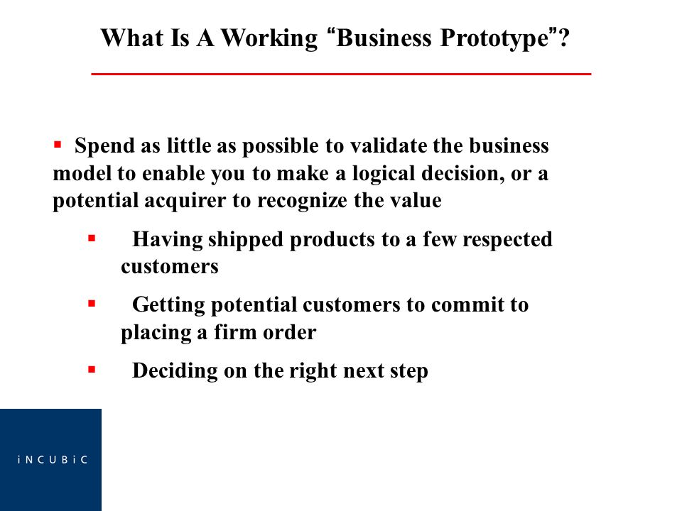 What Is A Working Business Prototype.