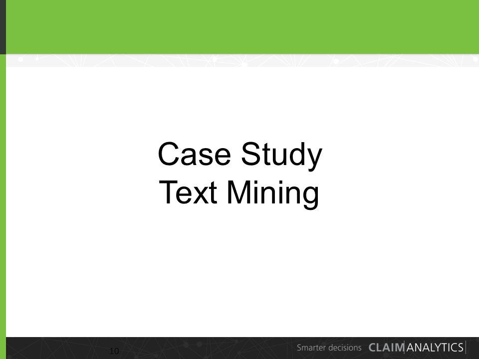 10 Case Study Text Mining