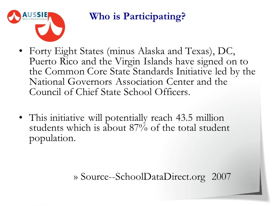 What is the Common Core Standard Initiative? The Common Core State Standard Initiative is a significant and historic opportunity for states to collect