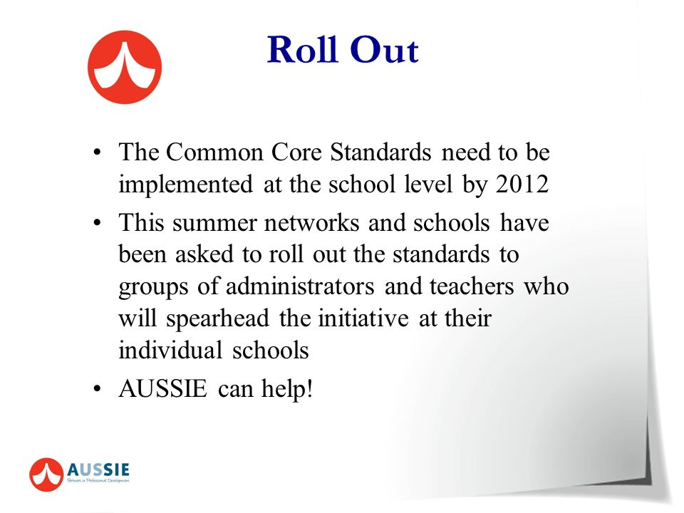 8. 8. Curriculum standards – How can we place these into a curriculum map? Activity 3 : Write a SMART goal for one of the standards.