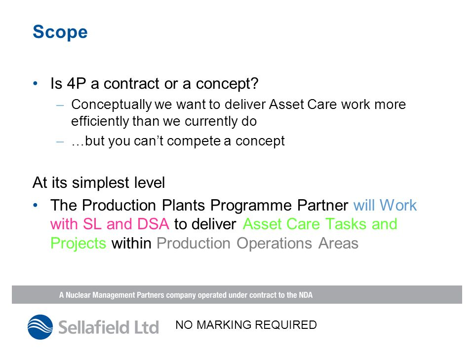 Scope Is 4P a contract or a concept.