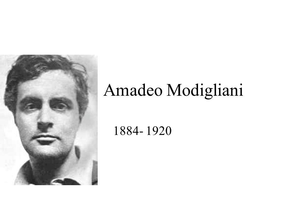 Amadeo Modigliani 1884- 1920