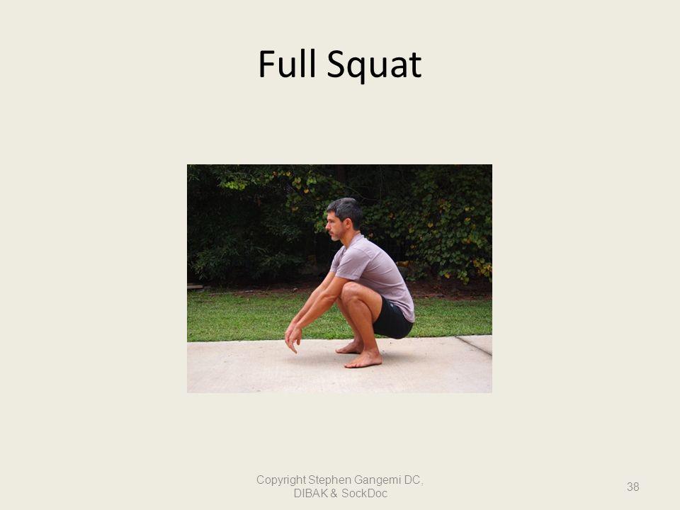 Full Squat Copyright Stephen Gangemi DC, DIBAK & SockDoc 38