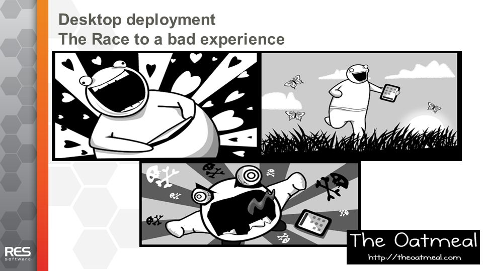 15 Desktop deployment The Race to a bad experience