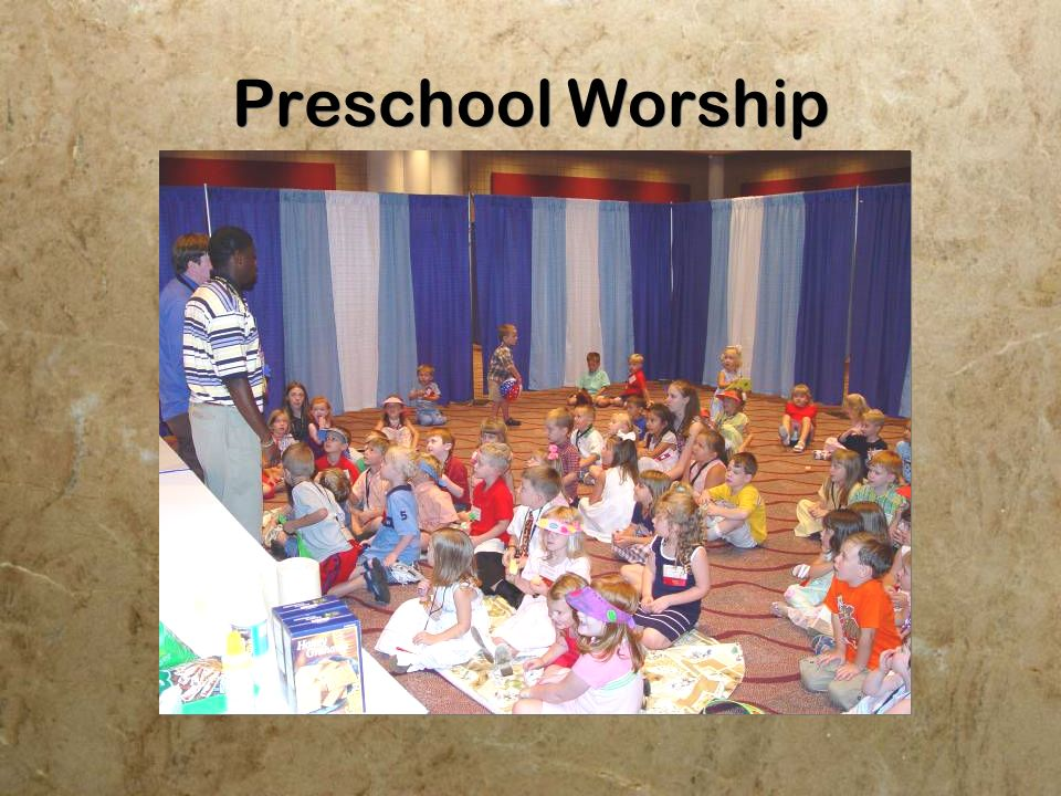 Childrens Worship for grades 1-3 Children enjoy a special time of worship geared to their age group.