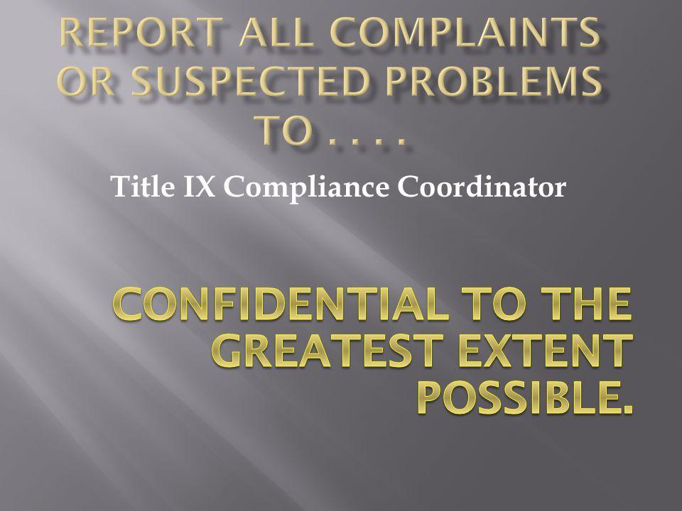 Title IX Compliance Coordinator
