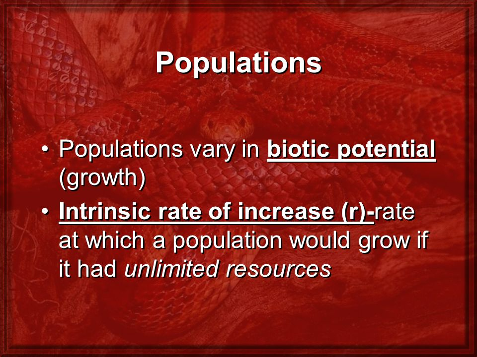 How Does Density Affect Population Growth.