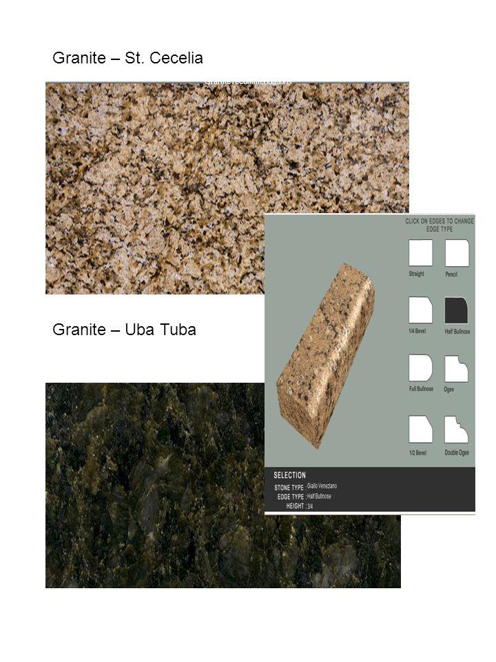 Granite – St. Cecelia Granite – Uba Tuba Granite recommendations